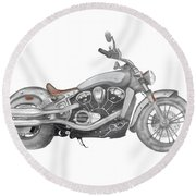 Scout 2015 Round Beach Towel by Terry Frederick