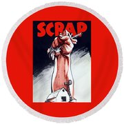 Scrap - Ww2 Propaganda Round Beach Towel