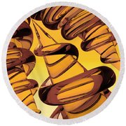 Screwed Two Round Beach Towel by Peter J Sucy