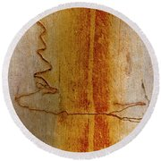 Round Beach Towel featuring the photograph Scribbly Gum Bark by Werner Padarin