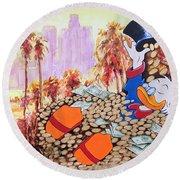 Scrooge In La Round Beach Towel