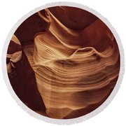 Sculpted By Time Dist Round Beach Towel