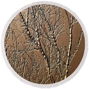 Sculpted Tree Branches Round Beach Towel