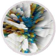 Round Beach Towel featuring the digital art Sculptural Series Digital Painting 08.072311wscvssex490l by Kris Haas