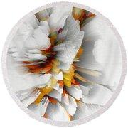 Round Beach Towel featuring the digital art Sculptural Series Digital Painting 22.120210 by Kris Haas