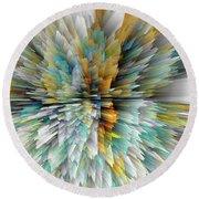Round Beach Towel featuring the digital art Sculptural Series Digital Painting 23.102011windextsc590l by Kris Haas