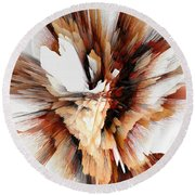 Round Beach Towel featuring the digital art Sculptural Series Digital Painting 23.120210ext5100l by Kris Haas