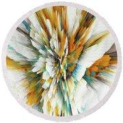 Round Beach Towel featuring the digital art Sculptural Series Digital Painting 05.072311ex590lvs.jpg  by Kris Haas