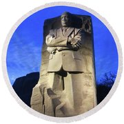 Sculptured Profile Martin Luther King Jr. Round Beach Towel