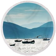 Sea And Freedom Round Beach Towel by Martin Lopreiato