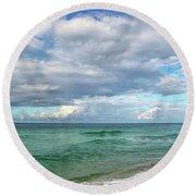 Sea And Sky - Florida Round Beach Towel