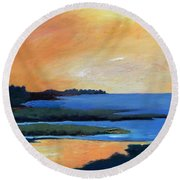 Sea And Sky Round Beach Towel by Gary Coleman