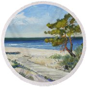 Sea Beach 6 - Baltic Round Beach Towel