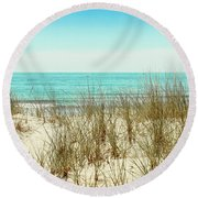 Sea Breeze Round Beach Towel by Colleen Kammerer