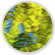 Sea Breeze Mosaic Abstract Round Beach Towel
