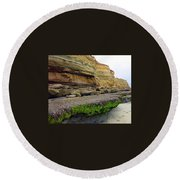 Sea Cliff Round Beach Towel by Betty Buller Whitehead