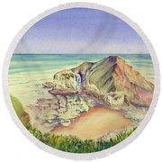 Sea Cliff Round Beach Towel