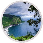 Sea Cliffs Round Beach Towel
