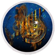 Sea Fish Round Beach Towel