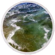 Sea Foam 1 Round Beach Towel
