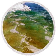 Sea Foam 3 Round Beach Towel