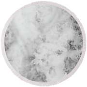 Sea Foam Round Beach Towel