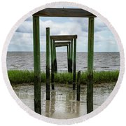 Sea Gates Round Beach Towel