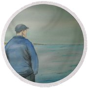 Sea Gaze Round Beach Towel