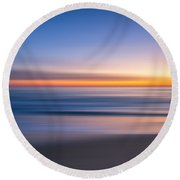 Sea Girt New Jersey Abstract Seascape Sunrise Round Beach Towel