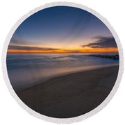 Sea Girt Sunrise New Jersey  Round Beach Towel by Michael Ver Sprill