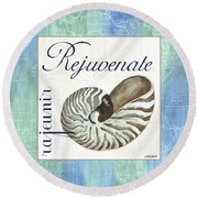 Sea Glass 1 Round Beach Towel