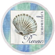 Sea Glass 2 Round Beach Towel