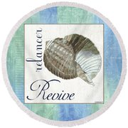 Sea Glass 4 Round Beach Towel
