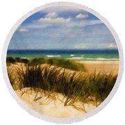 Sea Grass Round Beach Towel