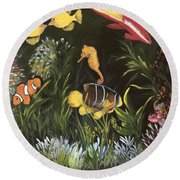 Sea Harmony Round Beach Towel