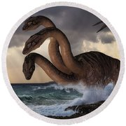 Sea Hydra Round Beach Towel