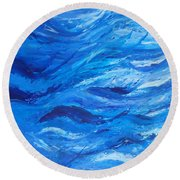 Sea 2 Round Beach Towel