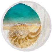 Sea In My Hand Round Beach Towel