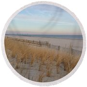 Sea Isle City, N J, Beach Round Beach Towel
