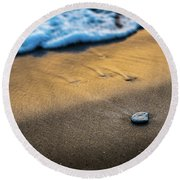 Sea Layers Of Colors Round Beach Towel