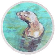 Sea Lion Round Beach Towel