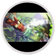 Sea Lioness Round Beach Towel