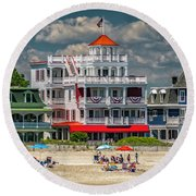 Sea Mist Hotel Round Beach Towel
