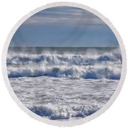 Sea Mist Round Beach Towel by Tricia Marchlik