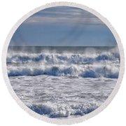 Sea Mist Round Beach Towel