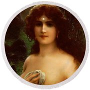 Sea Nymph Round Beach Towel by Emile Vernon