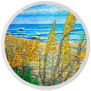 Sea Oat,dual #1 Round Beach Towel