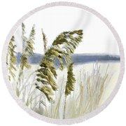 Sea Oats Round Beach Towel