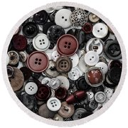 Round Beach Towel featuring the photograph Sea Of Buttons by Edgar Laureano