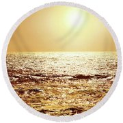 Round Beach Towel featuring the photograph Sea Of Diamonds by Michael Rock